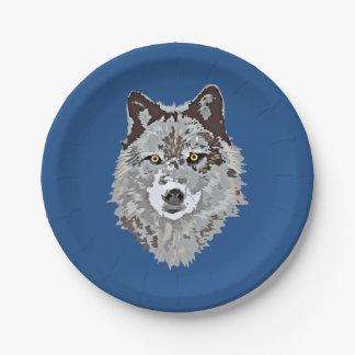 様式化されたオオカミの頭部 ペーパープレート