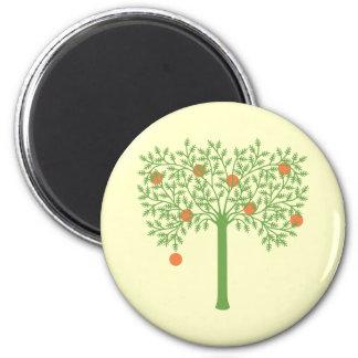 様式化されたオレンジ木 マグネット