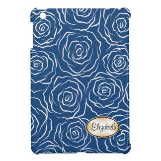 様式化されたバラパターンiPad Miniケース-青 iPad Miniケース