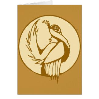 様式化されたライチョウ グリーティングカード