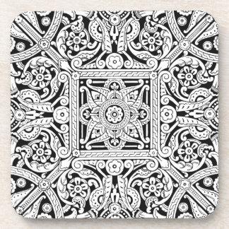 様式化された天井板のデザイン1870年 ドリンクコースター