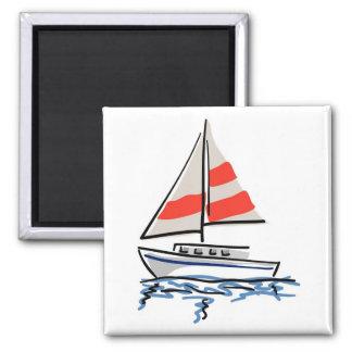 様式化された熱帯ヨット マグネット