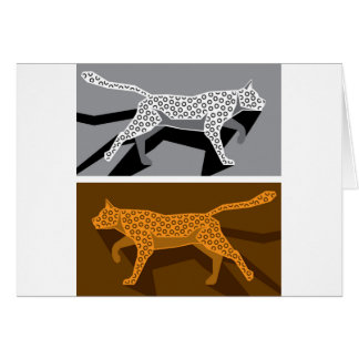 様式化された猫のベクトル カード