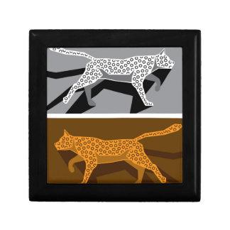 様式化された猫のベクトル ギフトボックス
