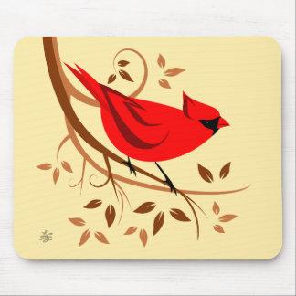 様式化された赤く基本的なマウスパッド マウスパッド