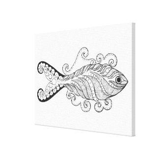 様式化された魚6 キャンバスプリント