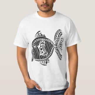 様式化された魚 Tシャツ