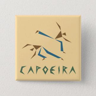 様式化されたCapoeira 5.1cm 正方形バッジ