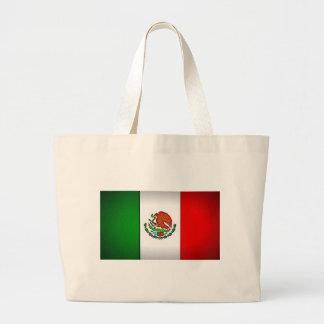 様式化されるメキシコの旗 ラージトートバッグ