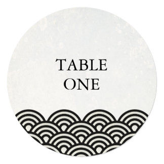 様式化される日本語Seighaは円卓会議数を振ります 13.3 スクエアインビテーションカード