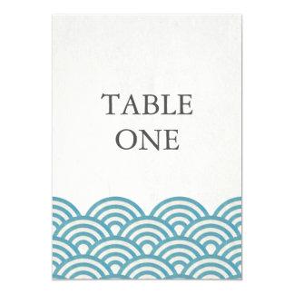 様式化される日本語Seighaは大きいテーブル数を振ります カード