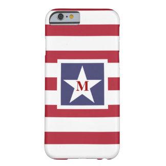 様式化される星条旗のモノグラム BARELY THERE iPhone 6 ケース