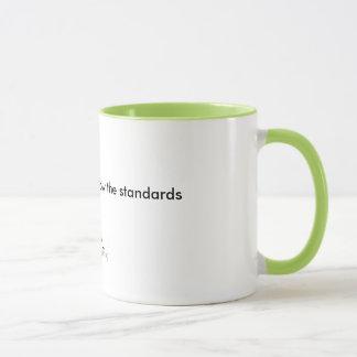 標準を後を追って下さい マグカップ