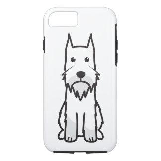 標準シュナウツァー犬の漫画 iPhone 8/7ケース