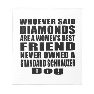 標準シュナウツァー犬の親友のデザイン ノートパッド
