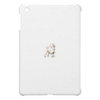 標準プードルの白 iPad MINIカバー