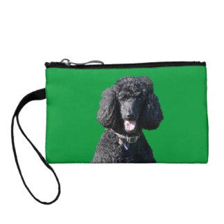 標準プードル犬の黒の美しい写真 コインパース
