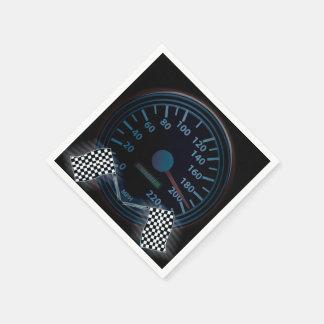 標準的なカクテルの速度計の終わりの旗 スタンダードカクテルナプキン