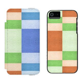 模倣されたCorkboardのパステル調の長方形 Incipio Watson™ iPhone 5 ウォレット ケース