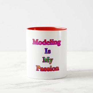 模倣は私の情熱です ツートーンマグカップ