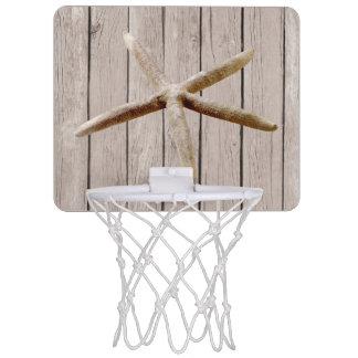 模造ので素朴な木製のヒトデ ミニバスケットボールゴール