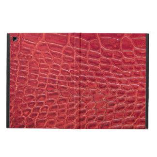 模造ので赤いわに革 iPad AIRケース