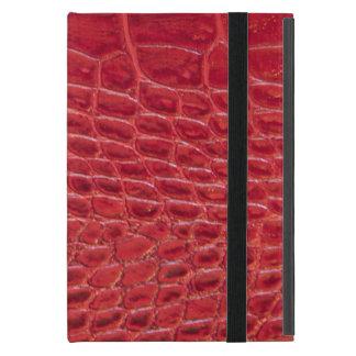 模造ので赤いわに革 iPad MINI ケース