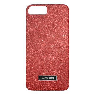 模造ので赤いグリッターの贅沢でカスタムなiPhone 8のプラスの場合 iPhone 8 Plus/7 Plusケース