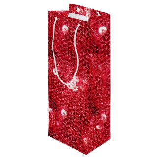 模造ので赤いスパンコールパターンイメージ ワインギフトバッグ