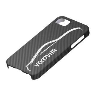 """模造のなカーボン繊維との""""VQ37VHR"""" 370z iPhone SE/5/5s ケース"""