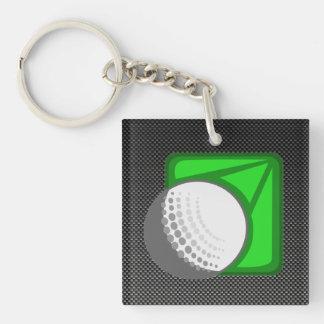 模造のなカーボン繊維のゴルフ・ボール キーホルダー