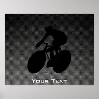 模造のなカーボン繊維のサイクリング ポスター