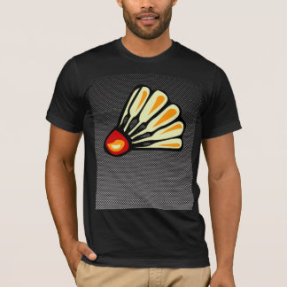 模造のなカーボン繊維のバドミントン Tシャツ