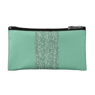 模造のなグリッターの真新しい緑の化粧品のバッグ コスメティックバッグ