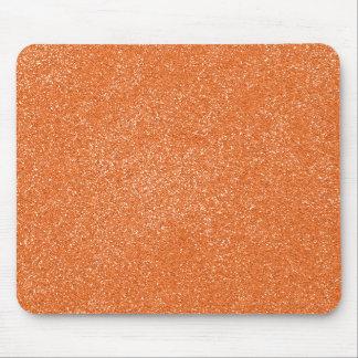 模造のなグリッターのPANTONEの蜜柑のオレンジ マウスパッド