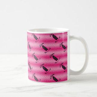 模造のなピンクのグリッターの魅力的なバニーのロゴ11のozのマグ コーヒーマグカップ