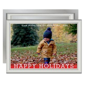 模造のなホワイトパインの木製のエレガントな写真テンプレート カード