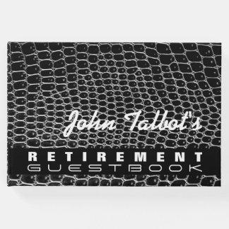 模造のなワニの皮のカスタムな退職の来客名簿 ゲストブック