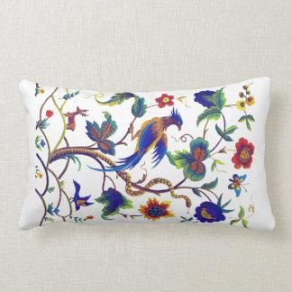 模造のな刺繍の枕Warwickの極楽鳥 ランバークッション