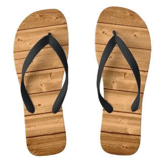 模造のな木製の板のデザイン ビーチサンダル