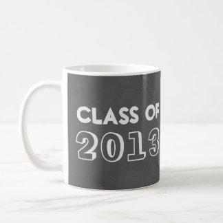 模造のな灰色の黒板のクラス年は写真の上で録音しました コーヒーマグカップ
