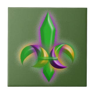 模造のな白熱(紋章の)フラ・ダ・リの謝肉祭の緑のタイル タイル
