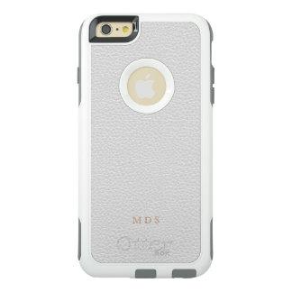 模造のな白革のオッターボックスのカスタムのイニシャル オッターボックスiPhone 6/6S PLUSケース