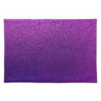 模造のな紫色のすみれ色のグリッターの背景の輝き ランチョンマット