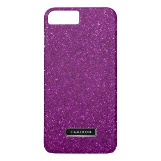 模造のな紫色のグリッターのルクスのカスタムなiPhone 8のプラスの場合 iPhone 8 Plus/7 Plusケース