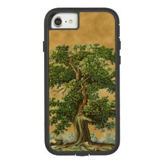 模造のな羊皮紙のiPhoneの場合のヴィンテージのオークの木 Case-Mate Tough Extreme iPhone 8/7ケース