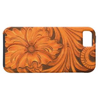 模造のな花柄によって用具を使われる革iPhone 5の穹窖 iPhone SE/5/5s ケース