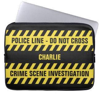 模造のな警察の警戒線カスタムな文字のラップトップスリーブ ラップトップスリーブ