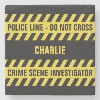 模造のな警察の警戒線カスタムな文字の石のコースター ストーンコースター
