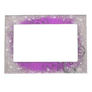 模造のな輝き、紫色のグリッター、カスタム マグネットフレーム